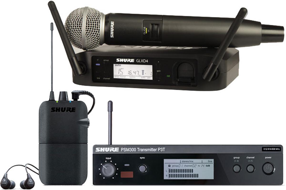 Shure シュアー / GLXD24/SM58 + P3TR112GR PSM 300【ワイヤレスイヤモニセット】【お取り寄せ商品】
