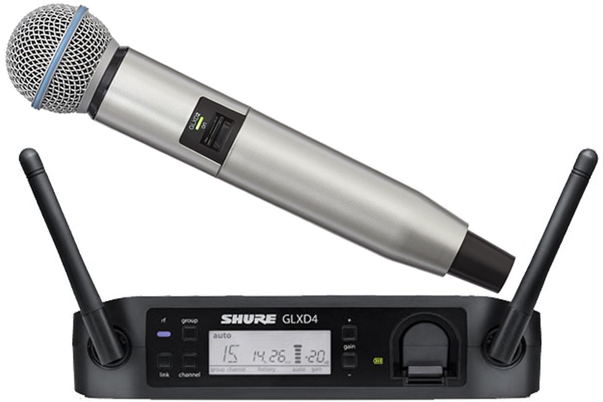 Shure シュアー / GLXD24/BETA58A + WA723-SIL シルバー【カラーハンドルセット】【お取り寄せ商品】