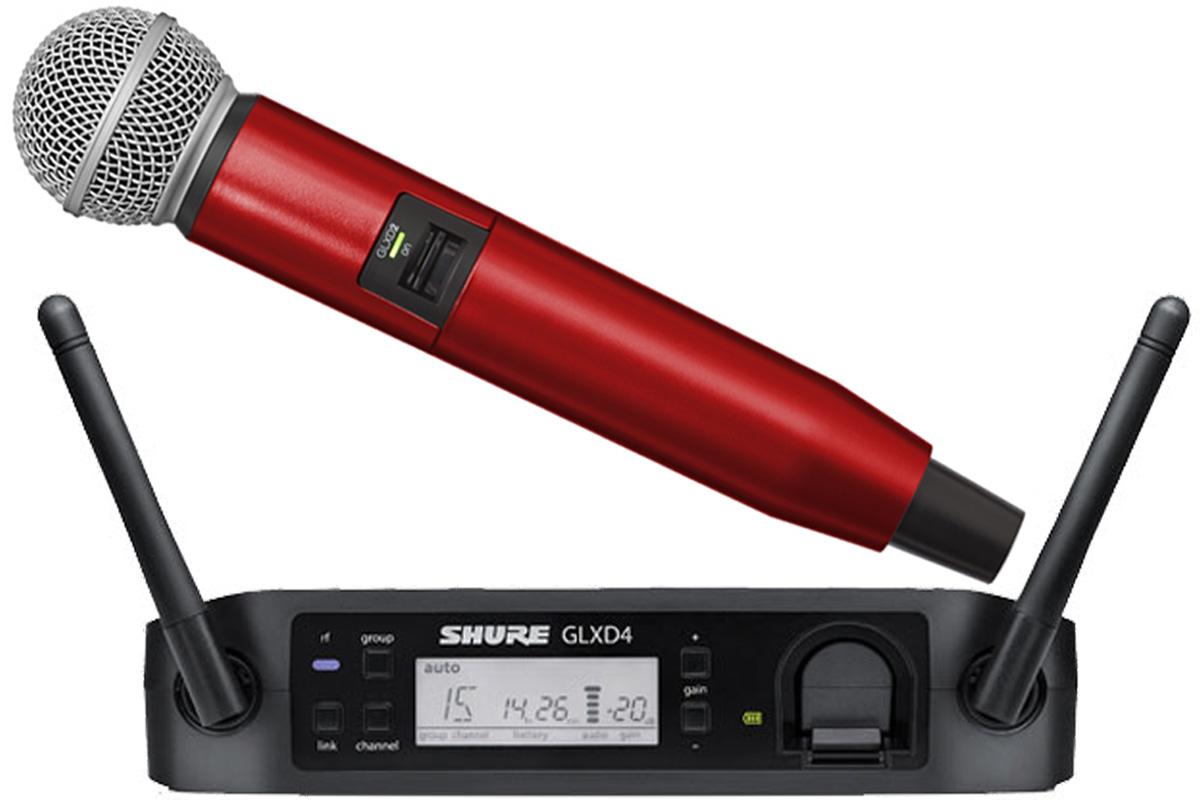 SHURE シュアー / GLXD24/SM58 + WA723-RED レッド【カラーハンドルセット】【お取り寄せ商品】