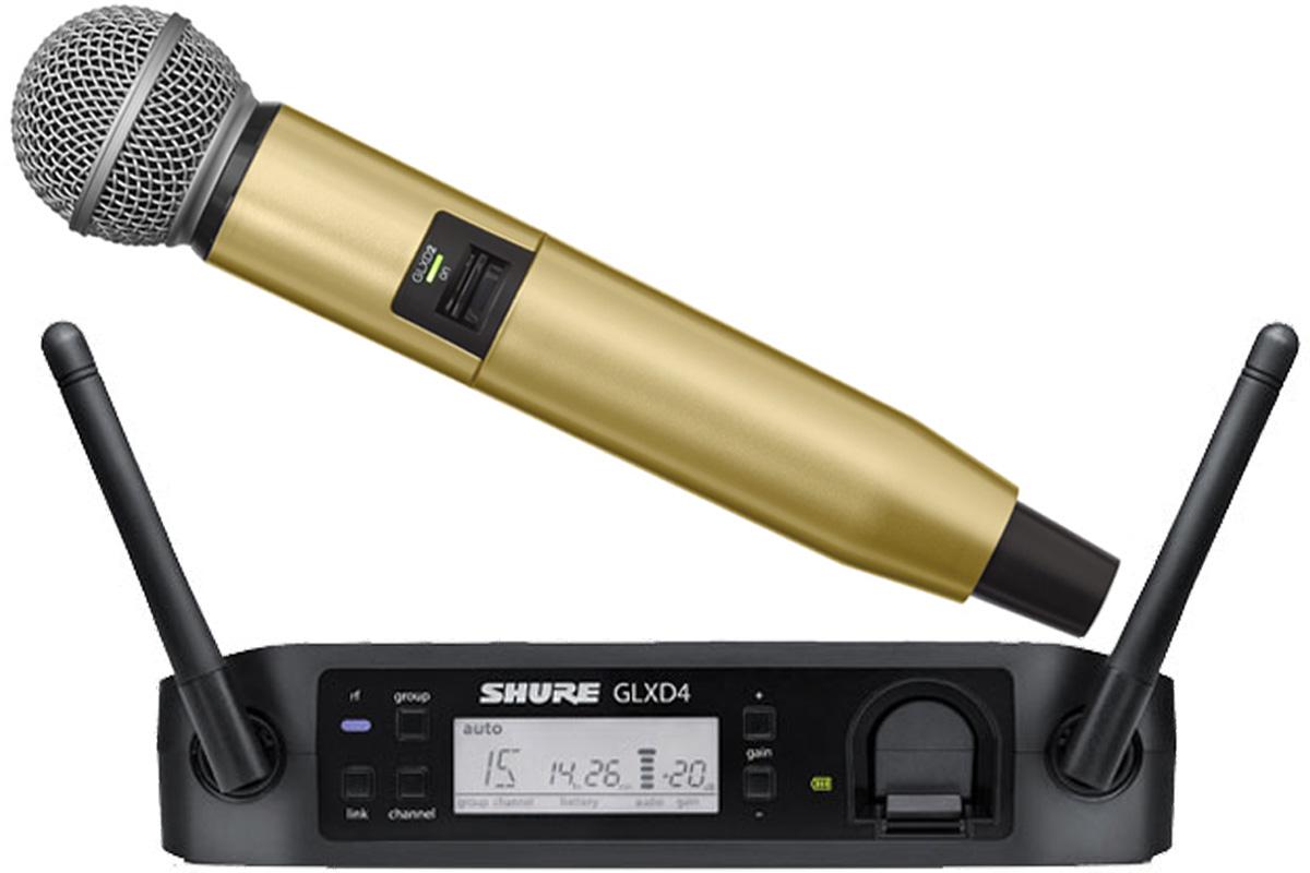 SHURE シュアー / GLXD24/SM58 + WA723-GLD ゴールド【カラーハンドルセット】【お取り寄せ商品】