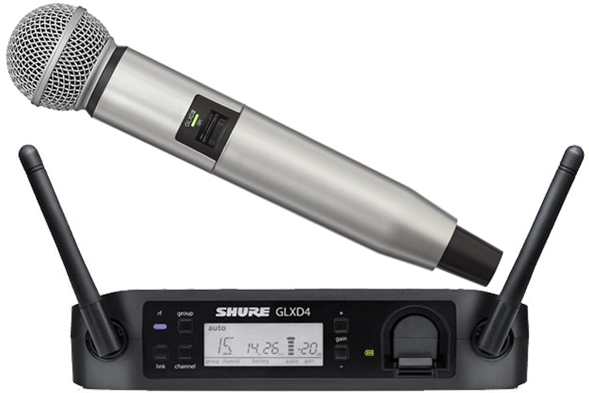Shure シュアー / GLXD24/SM58 + WA723-SIL シルバー【カラーハンドルセット】【お取り寄せ商品】