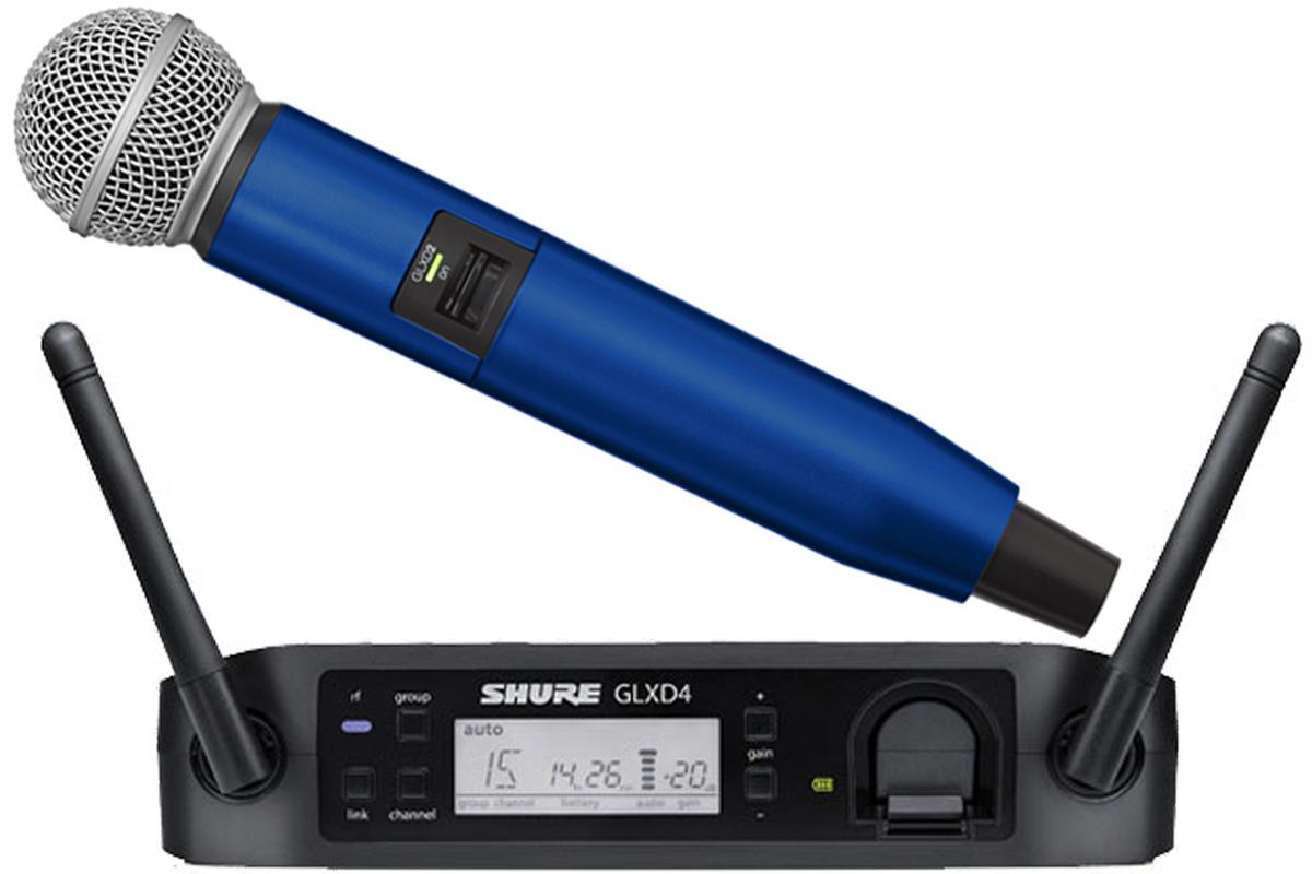Shure シュアー / GLXD24/SM58 + WA723-BLU ブルー【カラーハンドルセット】【お取り寄せ商品】