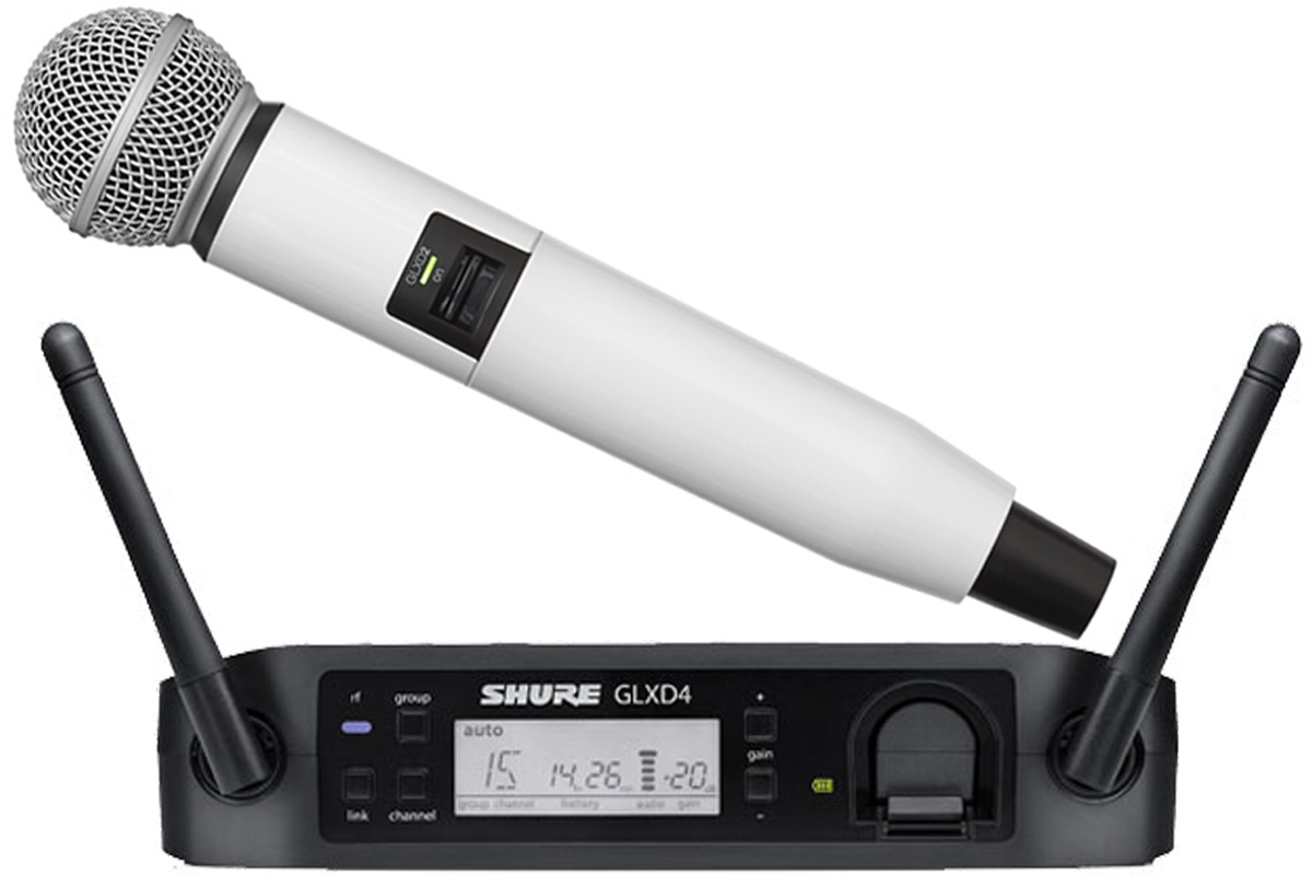 Shure シュアー / GLXD24/SM58 + WA723-WHT ホワイト【カラーハンドルセット】【お取り寄せ商品】
