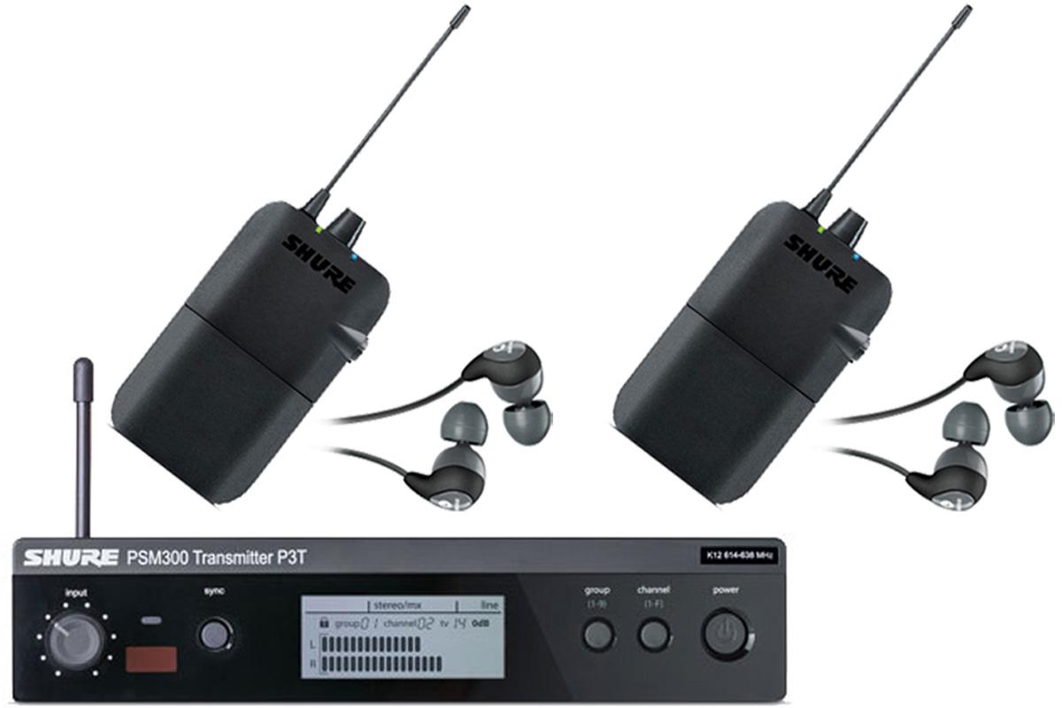 Shure シュアー / P3TR112GR PSM 300 イヤフォン付きワイヤレスイヤモニ 【受信機2台セット】【お取り寄せ商品】