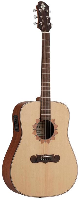 Zemaitis / CAD-100FW-E 【フラワーデザインロゼッタ】 ゼマイティス アコースティックギター エレアコ CAD100FWE 【お取り寄せ商品】
