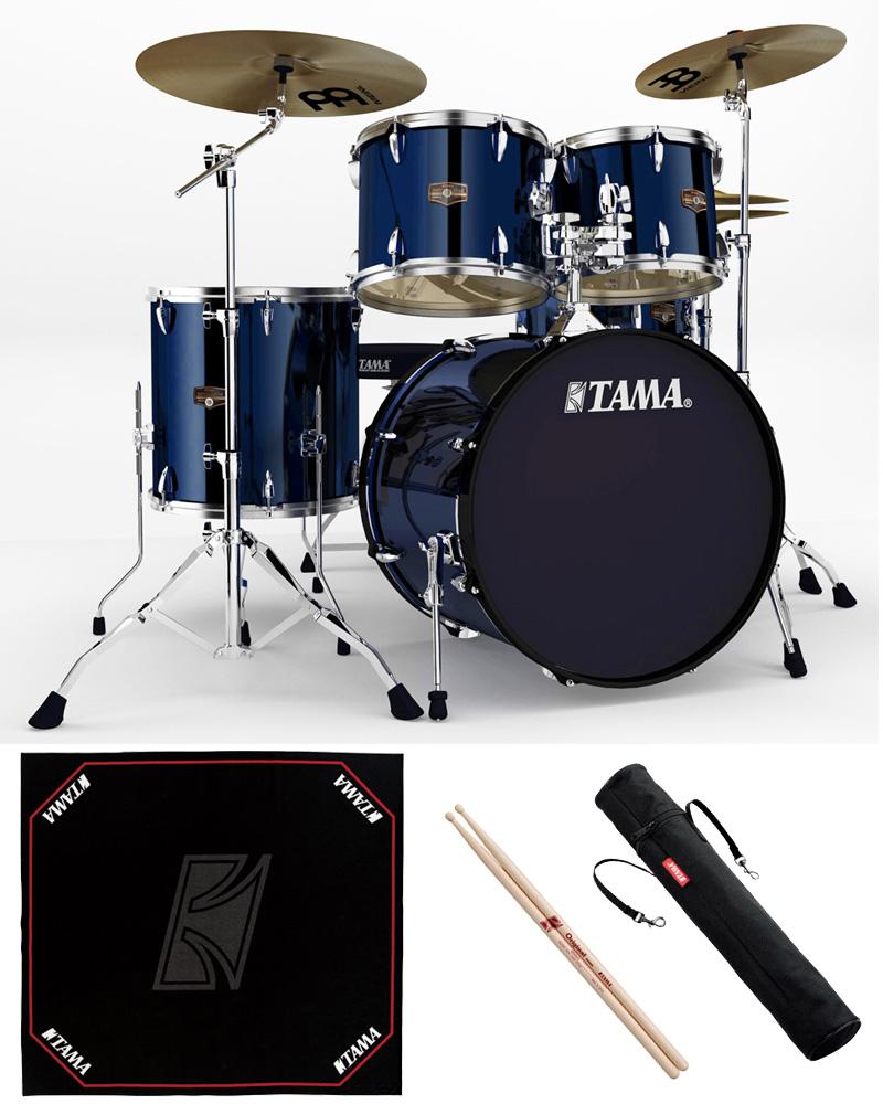 TAMA IP52H6HC-MNB ドラムセット 22BD スタンダードサイズ 純正ドラムマットセット