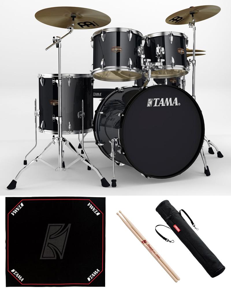 TAMA IP52H6HC-HBK ドラムセット 22BD スタンダードサイズ 純正ドラムマットセット