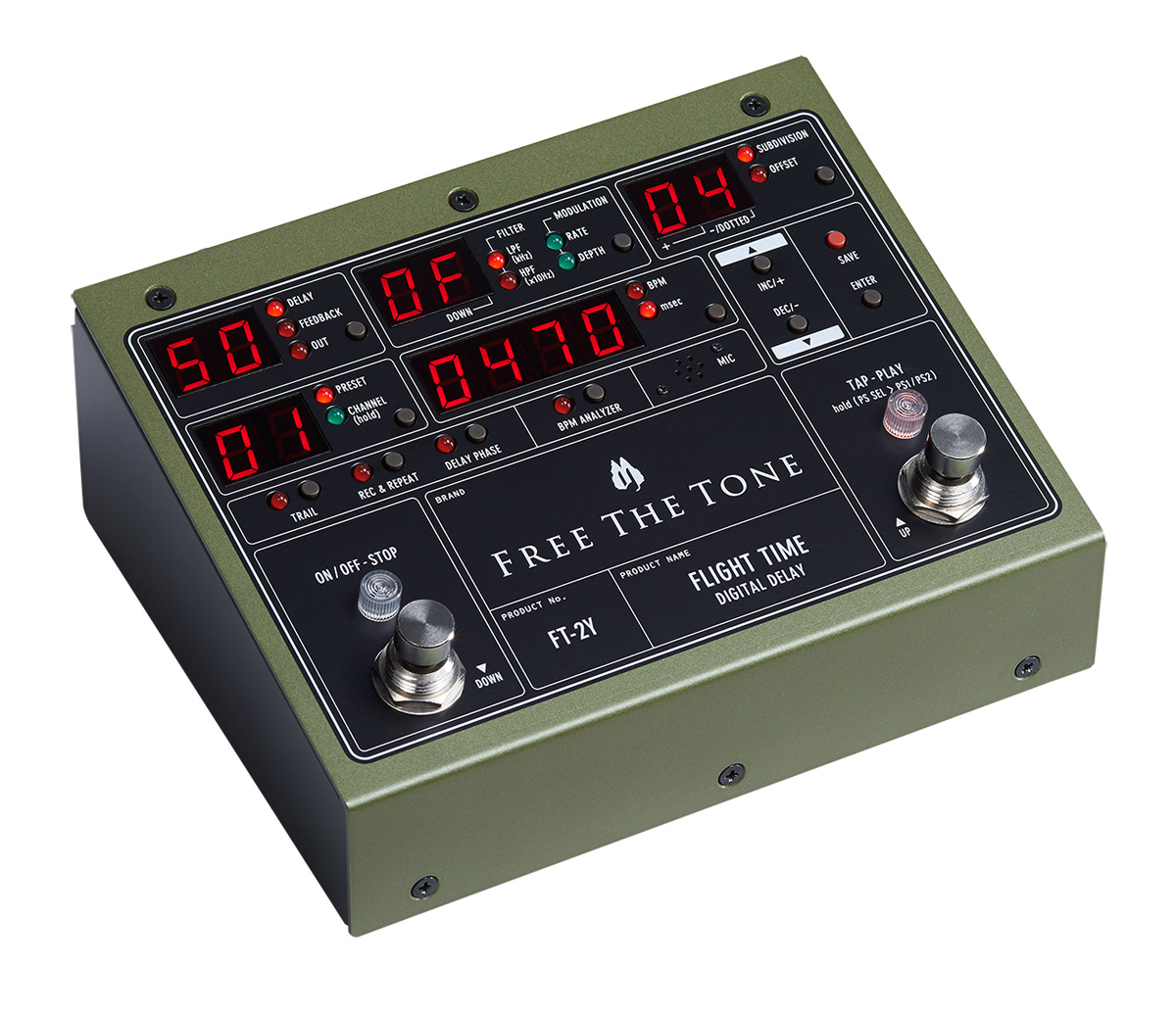 FREE THE TONE / FLIGHT TIME FT-2Y DIGITAL DELAY フリーザトーン デジタルディレイ