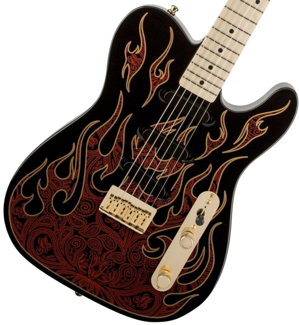 Fender USA / James Burton Telecaster Red Paisley Flames フェンダー【お取り寄せ商品】《カスタムショップのお手入れ用品を進呈/+671038200》【YRK】