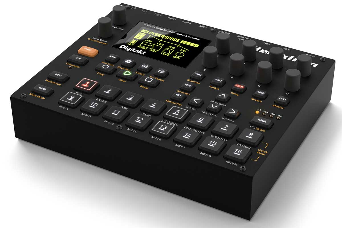 Elektron エレクトロン / Digitakt DDS-8 デジタル・ドラムマシン