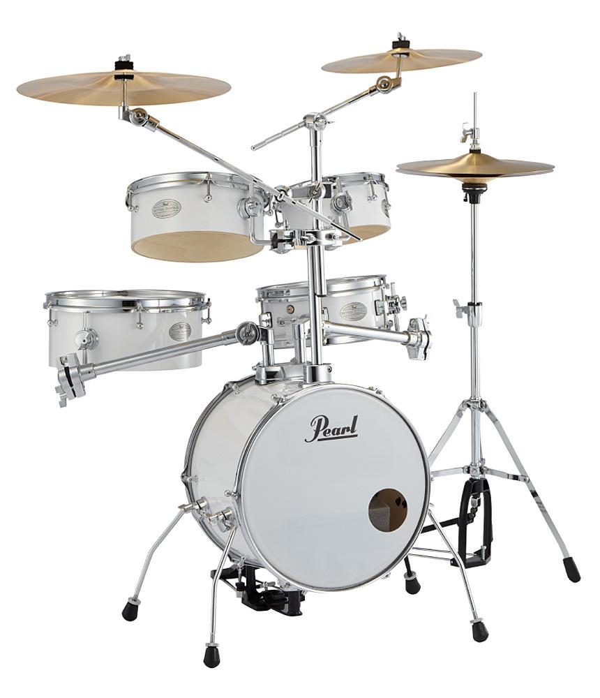Pearl 小型ドラムセット RT-645N/C #33ピュアホワイト シンバル増設 プロパックセット