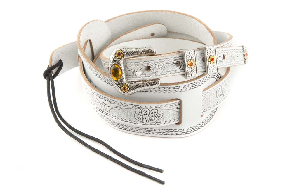 Gretsch / Tooled Strap White ギターストラップ グレッチ【お取り寄せ商品】