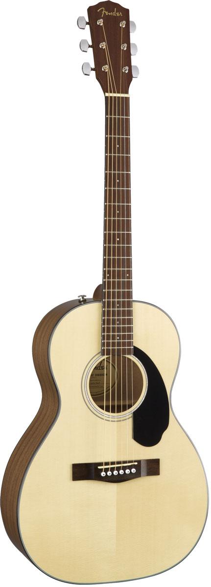 単板TOP、パーラーサイズのアコースティックギター! FENDER Acoustic / CP-60S Parlor Walnut Fingerboard Natural 【パーラーギター】 フェンダー アコースティックギター アコギ CP60S 【YRK】【新品特価】