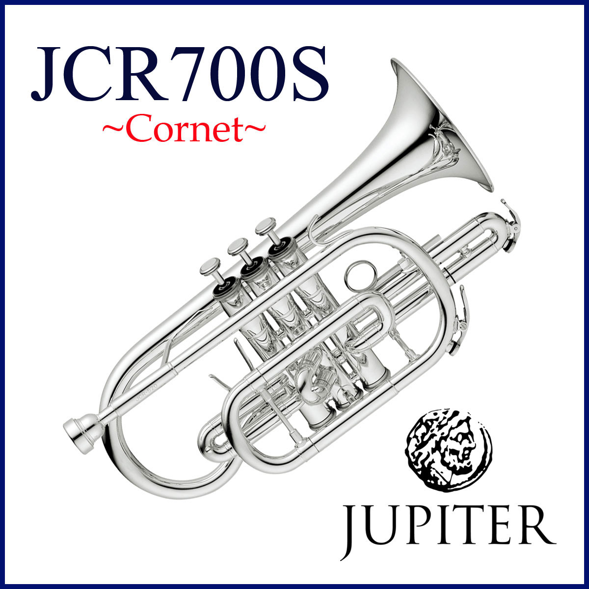 JUPITER / JCR-700S ジュピター コルネット シルバーメッキ仕上げ《お取り寄せ》