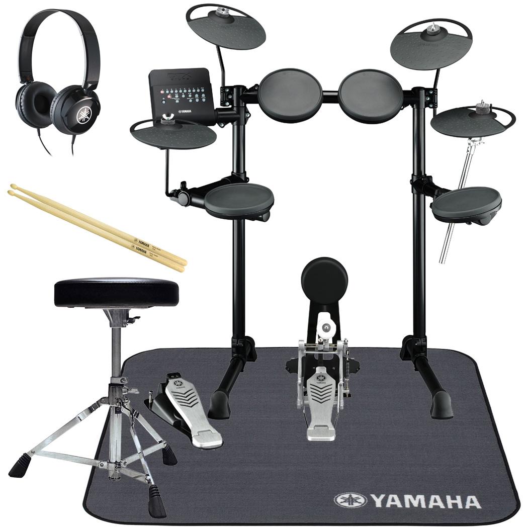 YAMAHA 電子ドラム DTX430KUPGS 3シンバル オール・ヤマハ 純正スターターパック マットセット【YRK】