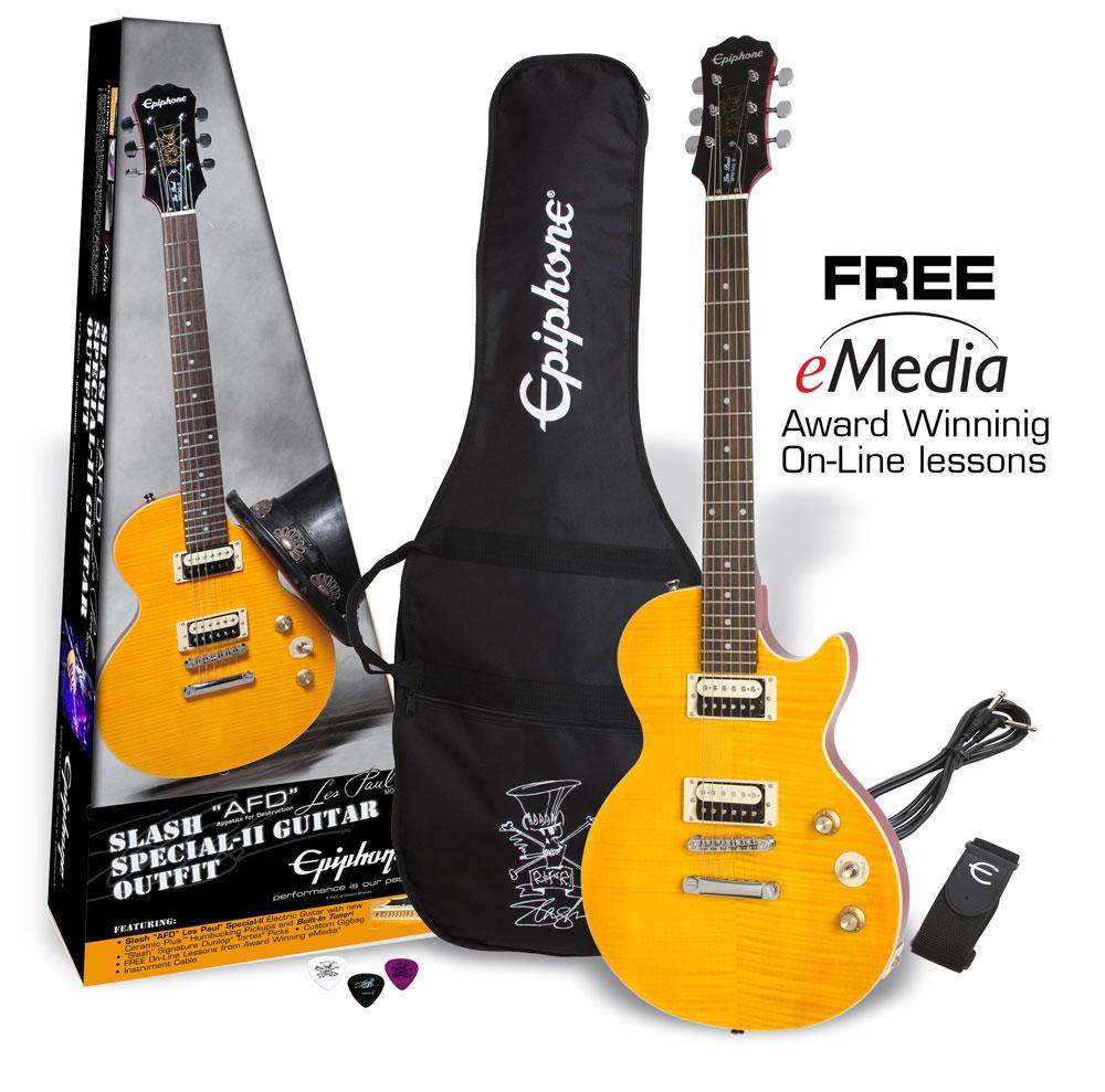 【タイムセール:29日12時まで】Epiphone / Slash AFD Les Paul Special-II Guitar Outfit Appetite Amber【スラッシュシグネチャーモデル!】《純正アクセサリーセット進呈 /+811162400》