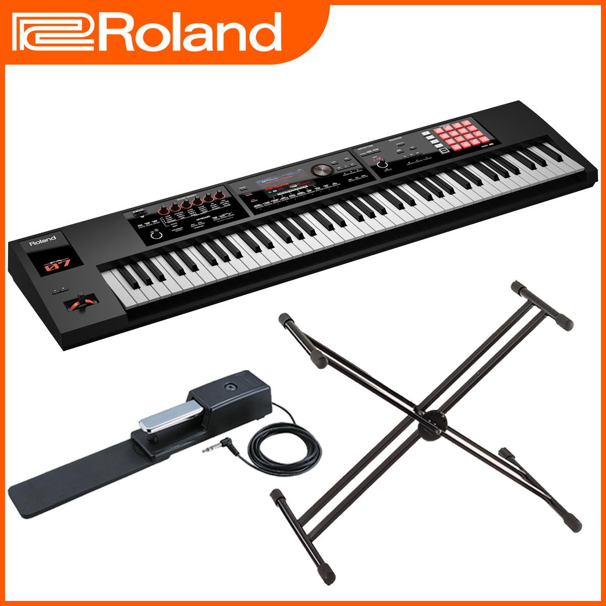 Roland ローランド / FA-07 Music Workstation 【スタンド&ペダルセット】【オーバーレイシート付属】 76鍵盤 シンセサイザー《背負えるキャリングケースプレゼント:811160800》【YRK】《予約注文/10月下旬入荷予定》