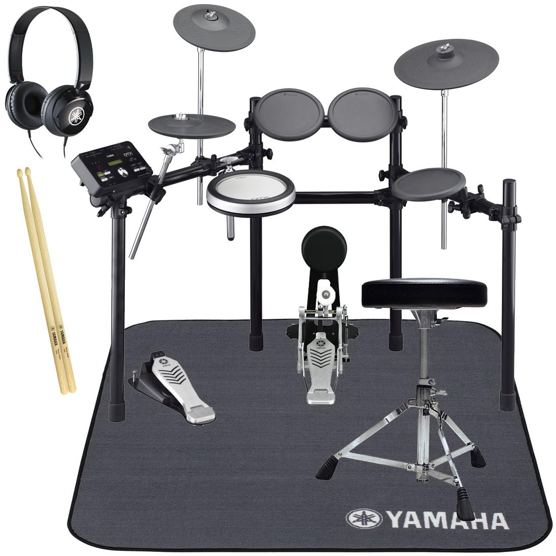 YAMAHA 電子ドラム DTX522KFS オールヤマハ 純正スターターパック/ドラムマットセット【YRK】