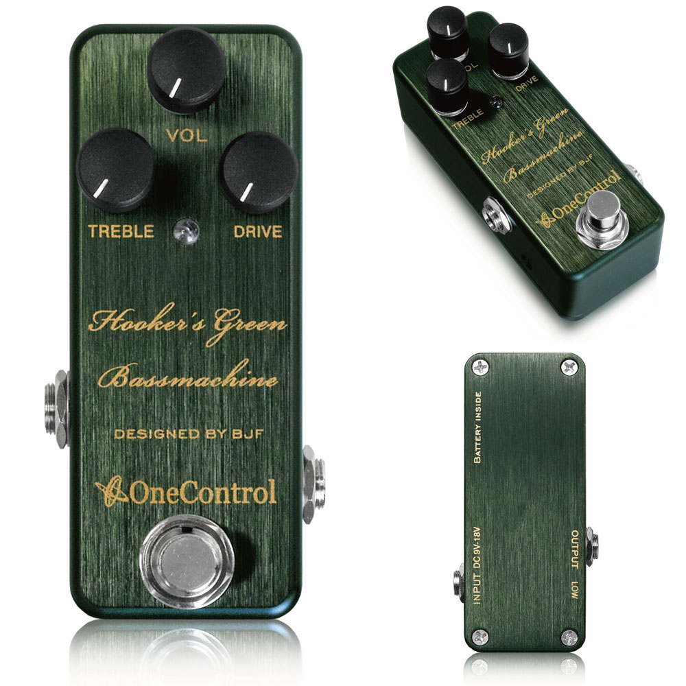 One Control / Hooker's Green Bass Machine フッカーズグリーンベースマシン ベースオーバードライブ【WEBSHOP】
