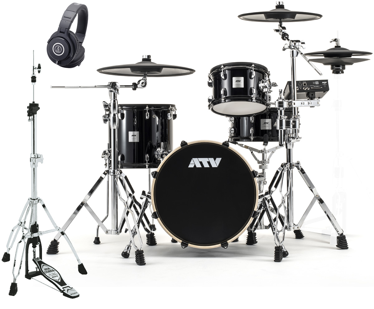 ATV / aDrums artist Standard Set ADA-STDSET TAMAハイハットスタンドとオーテクM40xヘッドホンセット