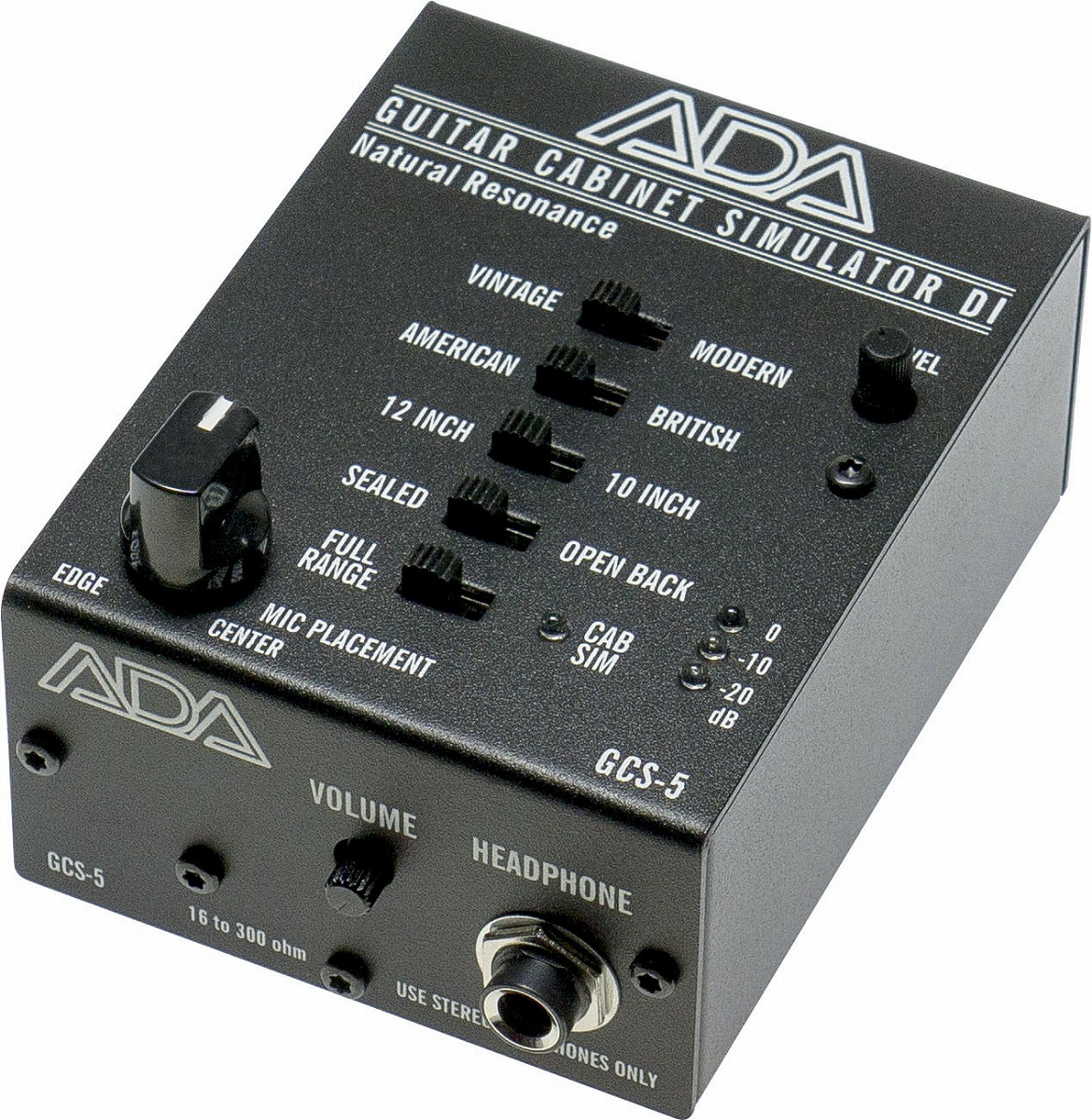 ADA / GCS-5 エーディーエー キャビネット・シミュレーター DI ボックス 【お取り寄せ商品】