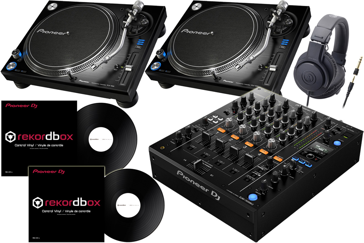 Pioneer DJ パイオニア / DJM-750 MK2 + PLX-1000 【DVSセット!】 DJセット《Dr.Suzuki製スリップマットプレゼント:811162600x2》【お取り寄せ商品】