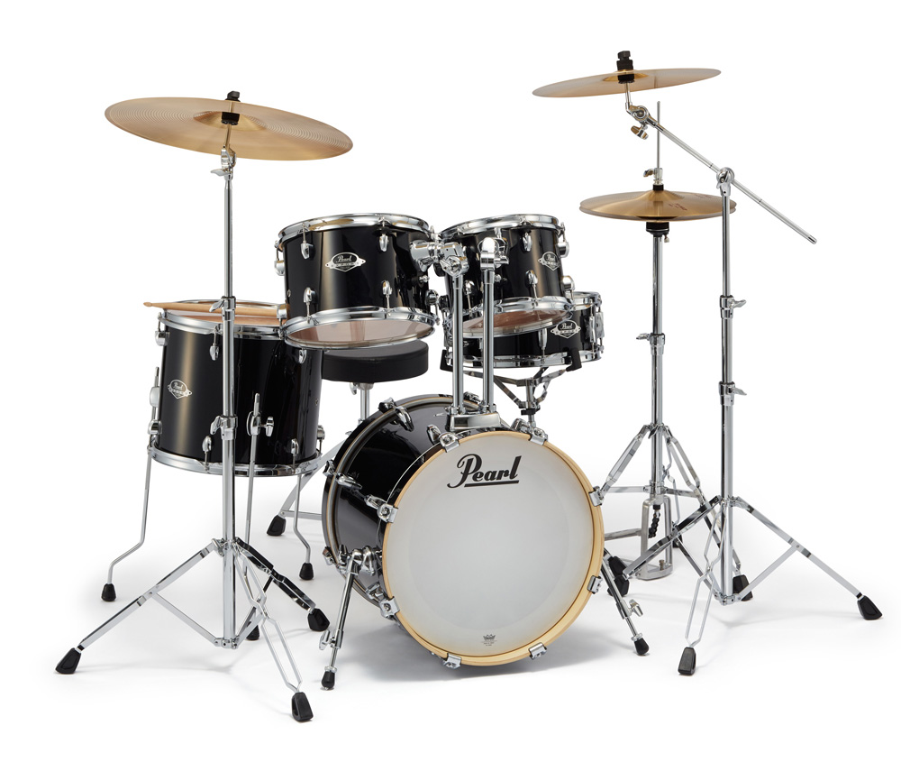 Pearl ドラムセット EXX785/C #31ジェットブラック EXPORT 18BD小口径 コンパクトサイズ【お取り寄せ商品】