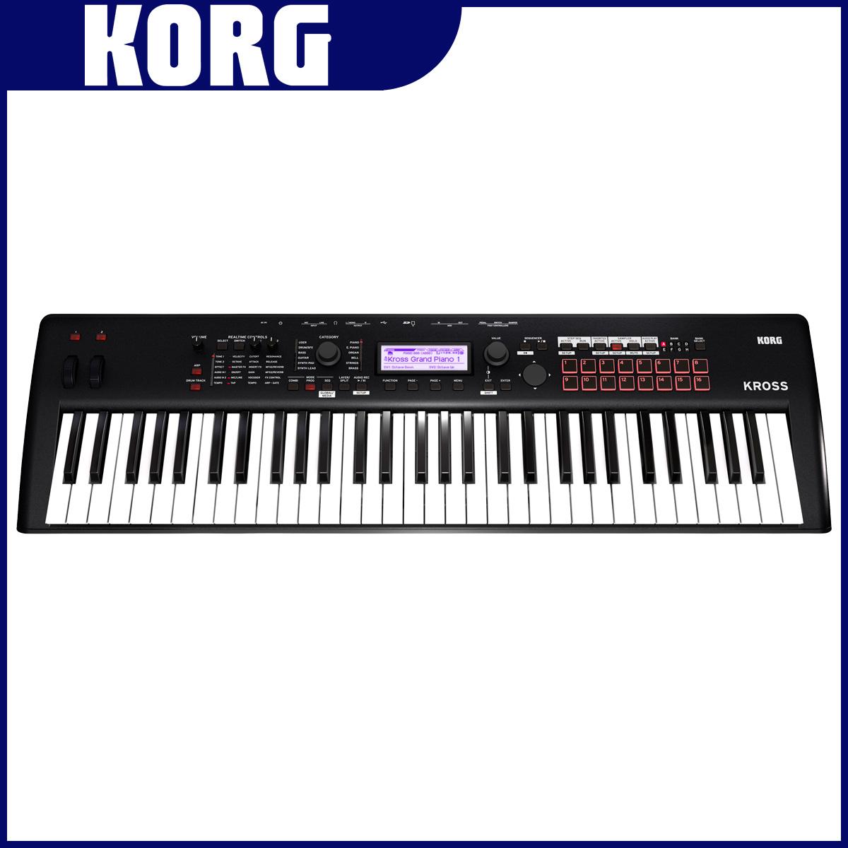 【在庫あり】KORG コルグ / KROSS2-61 MB ワークステーションシンセサイザー マットブラック【YRK】