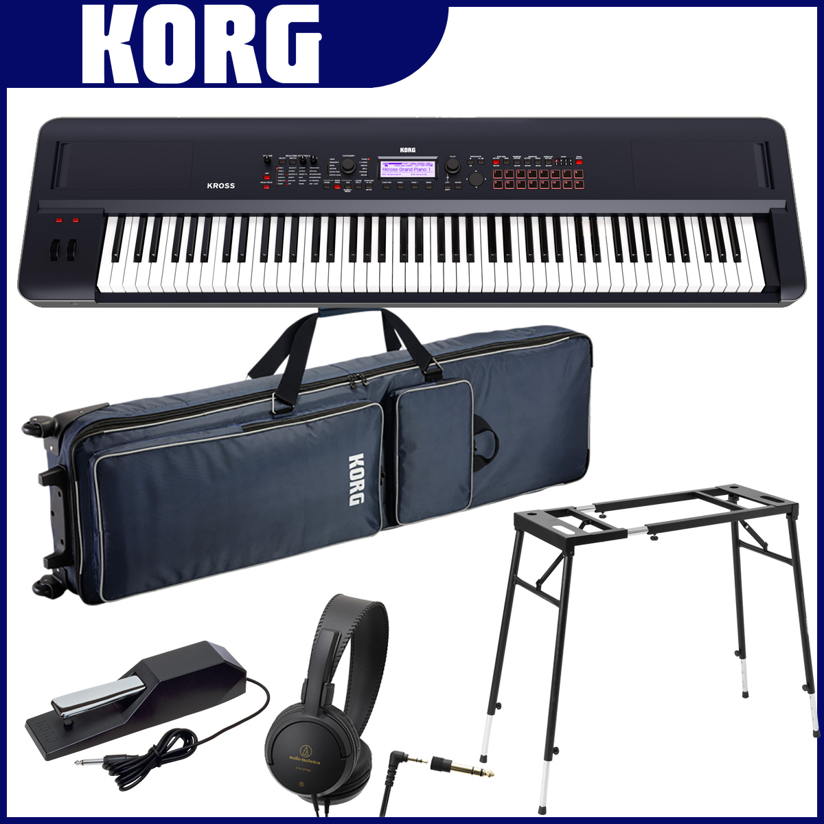 KORG コルグ / KROSS2-88 DB ダークブルー【スタートセット!】【YRK】