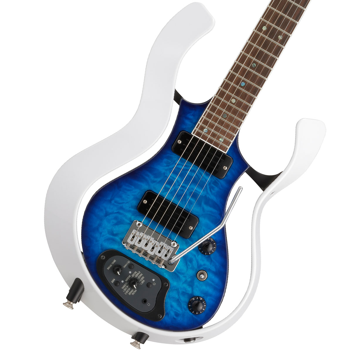 VOX / Modeling Electric Guitar Starstream Type 1-24 Metallic White Frame with Trans Blue/Qulted Maple Top (VSS-1-24MWTL-Q), akibainpulse:d4b6b026 --- afj21.jp