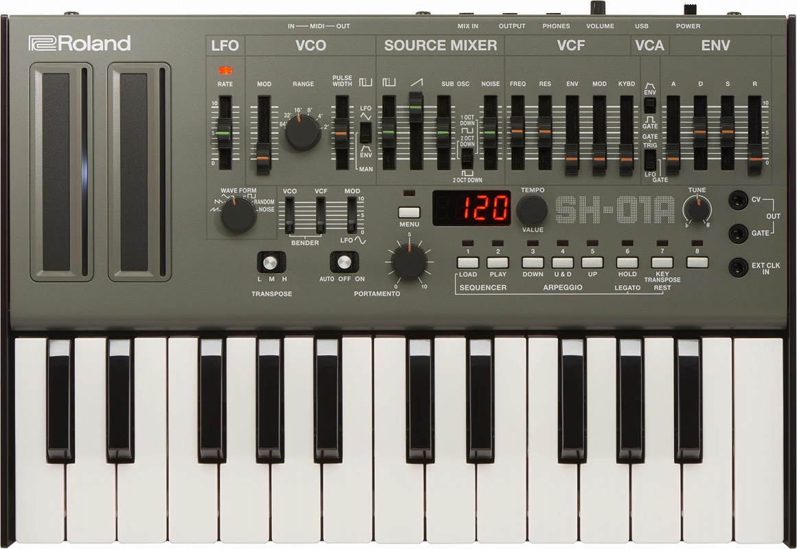 Roland ローランド / SH-01A【K-25mセット】Boutique BLACK Synthesizerブティーク【YRK】