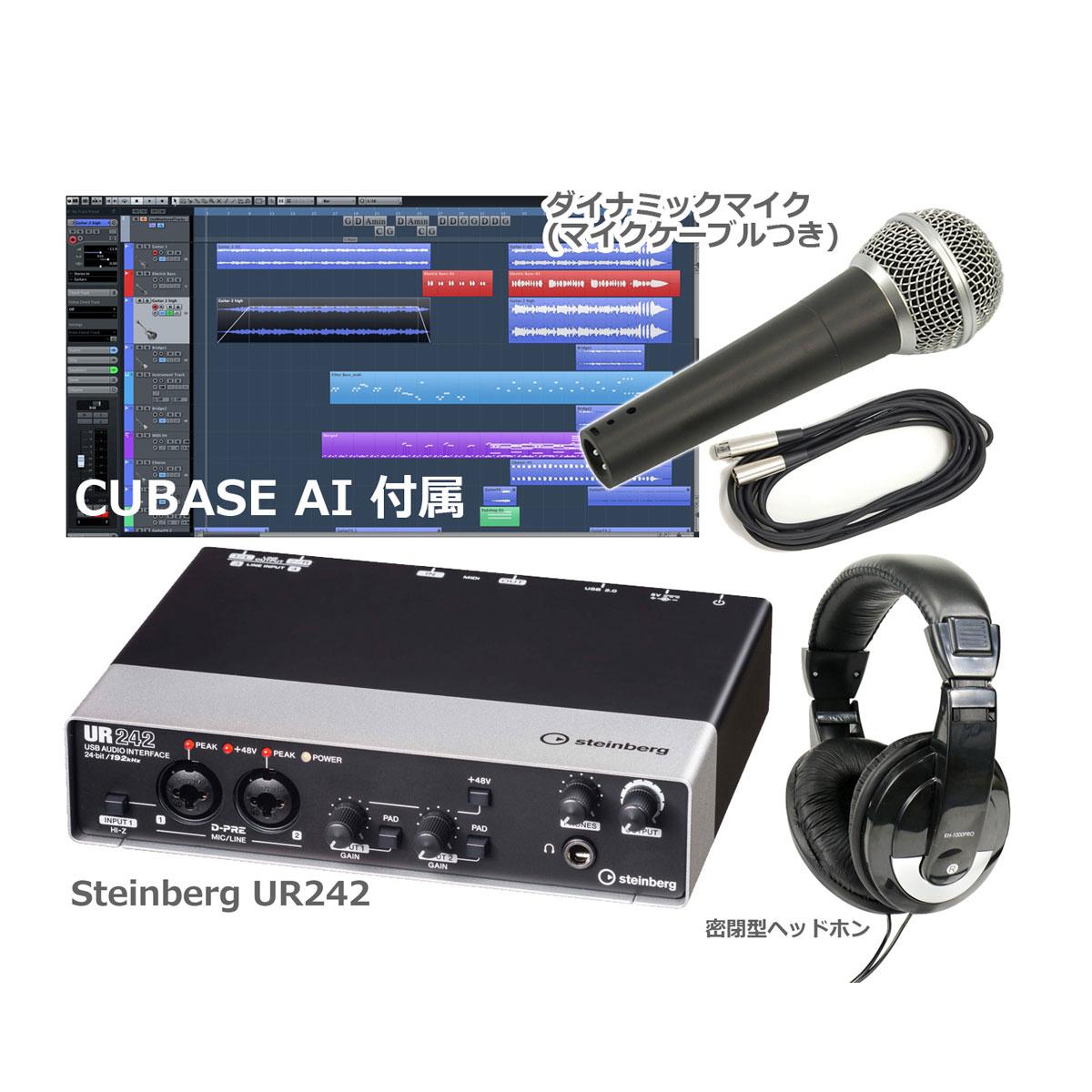 Steinberg スタインバーグ / UR242 オーディオインターフェース(UR-242) 【スタートセット!】