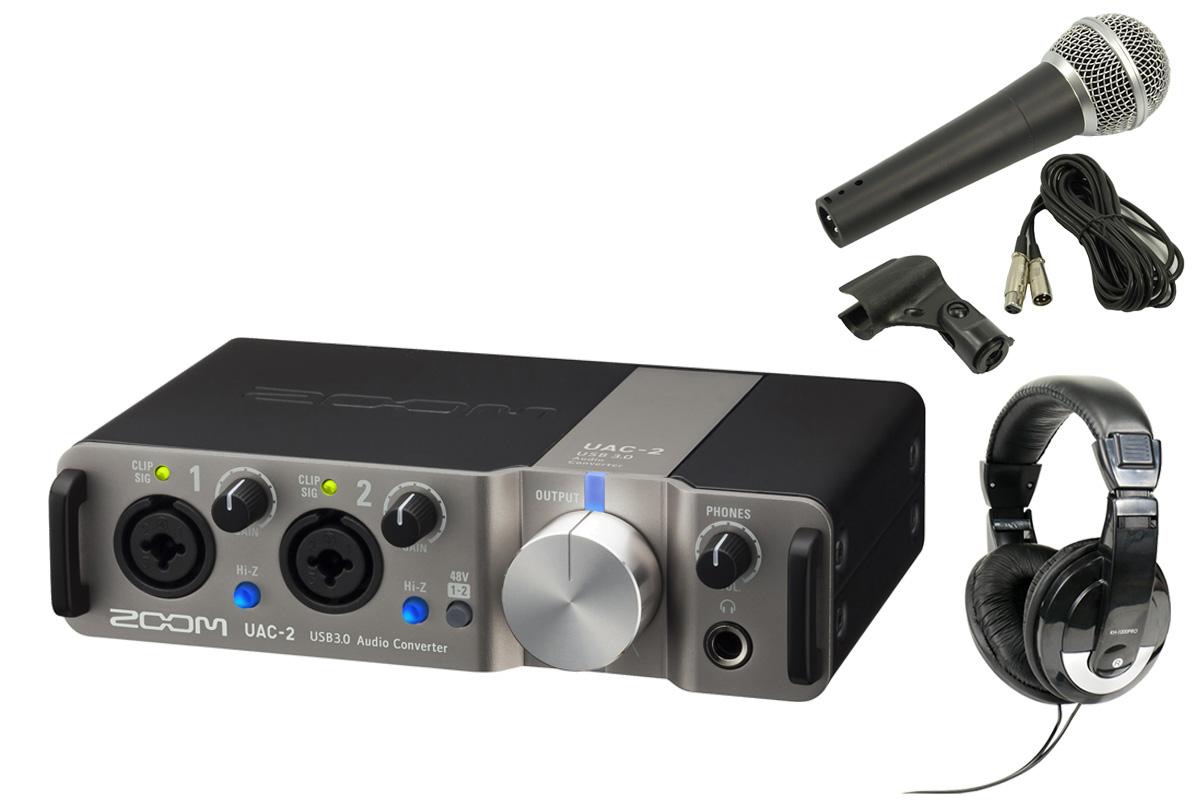 ZOOM ズーム / UAC-2 USB 3.0 Audio Converter 【スタートセット!】