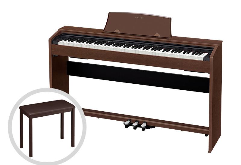 CASIO カシオ / Privia PX-770BN 電子ピアノ オークウッド調仕上げ【椅子セット!】【代引き不可】【全国組立設置無料】電子ピアノ プリヴィア【お手入れセットプレゼント:set78331】