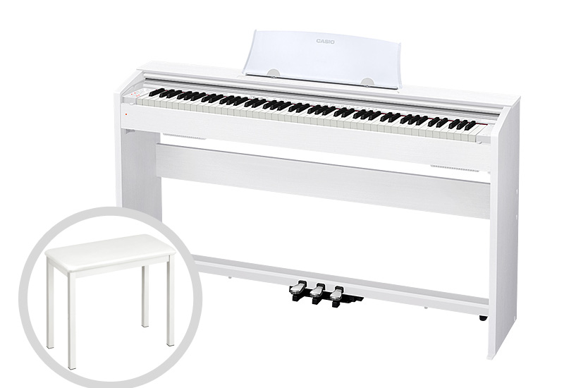 CASIO カシオ / Privia PX-770WE 電子ピアノ ホワイトウッド調仕上げ【椅子セット!】【代引き不可】【全国組立設置無料】電子ピアノ プリヴィア
