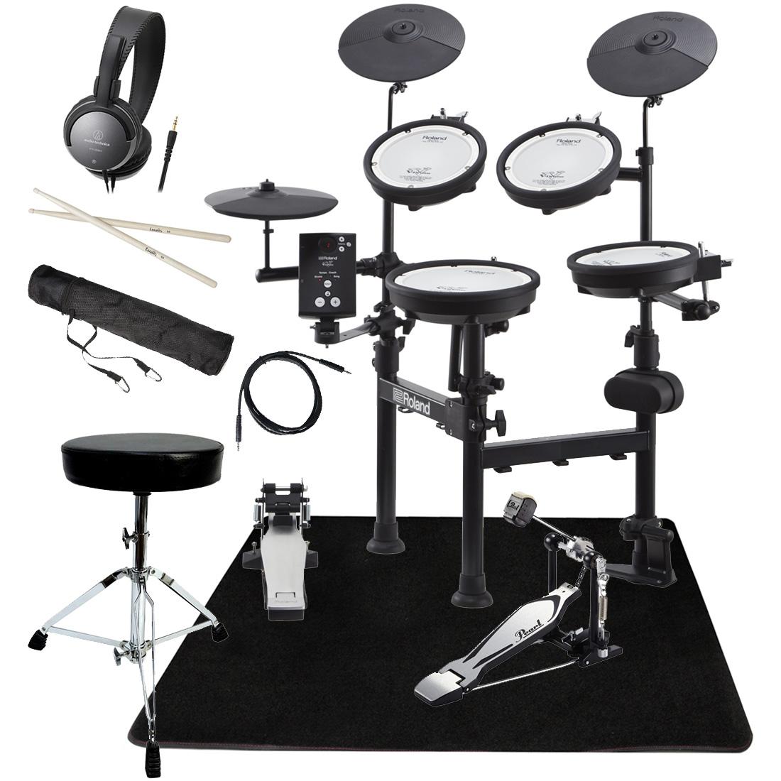 【タイムセール:7月2日12時まで】Roland 電子ドラム TD-1KPX2 イシバシオリジナル・マット付きスターターパック》【YRK】