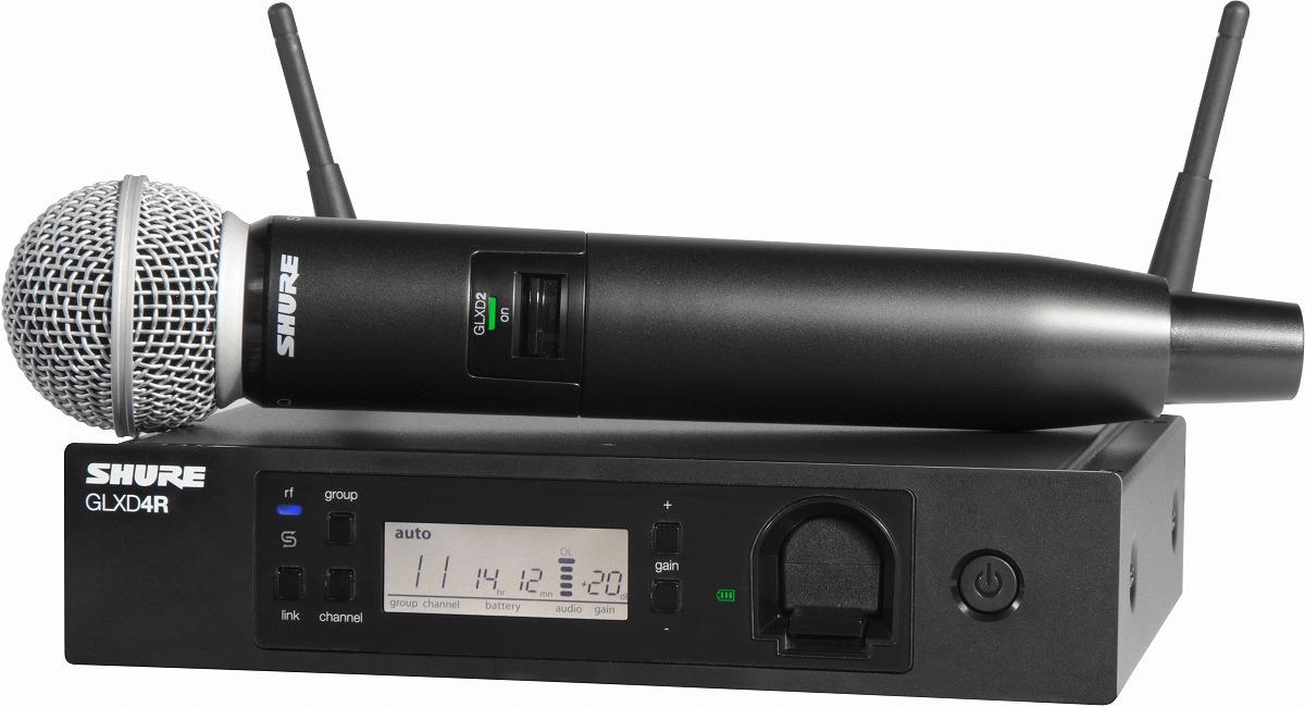 SHURE シュア / GLXD24R/SM58 ハンドヘルドワイヤレスシステム【メーカー受注発注商品】