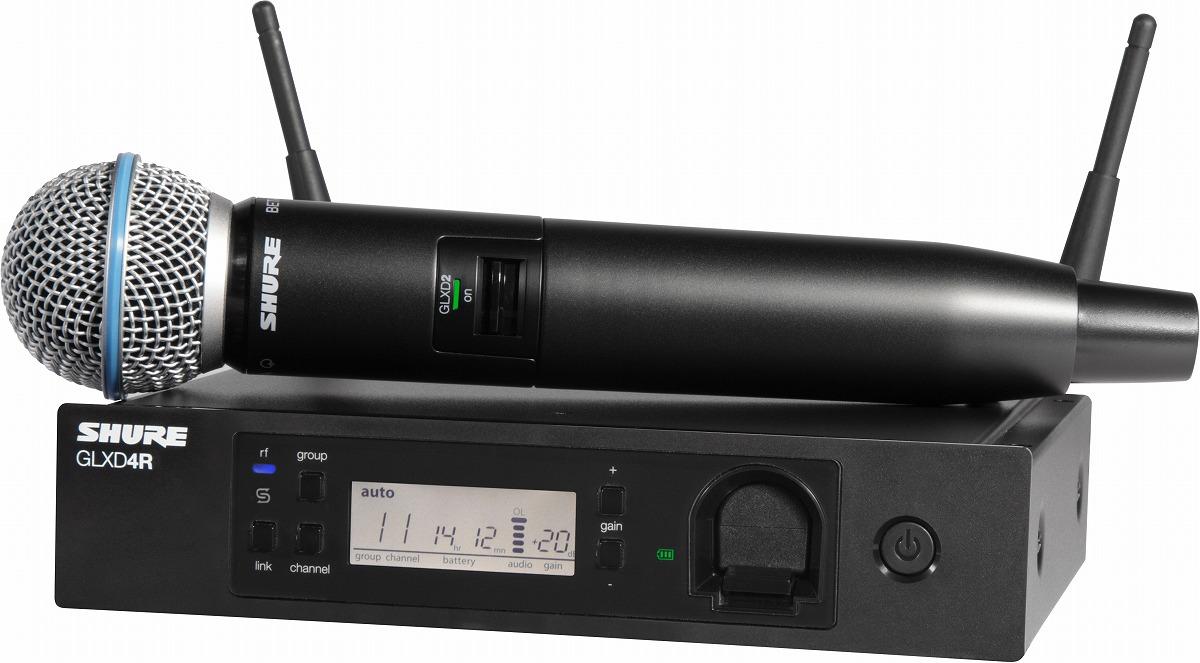 SHURE シュア / GLXD24R/B58 ハンドヘルドワイヤレスシステム【メーカー受注発注商品】