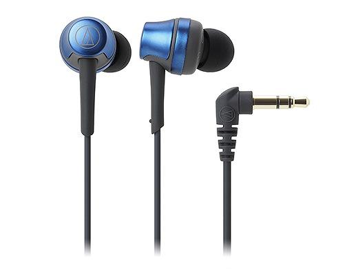 高解像度、高レスポンスな再生音を実現。 audio-technica オーディオテクニカ / ATH-CKR50 BL インナーイヤーヘッドホン ディープブルー【お取り寄せ商品】