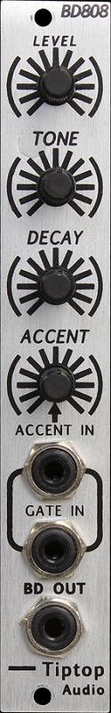 Tiptop Audio / BD808 Bass Drum ドラムジェネレーターモジュール【お取り寄せ商品】
