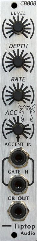 TR-808 のカウベルサウンドを忠実に再現 Tiptop Audio / CB808 Cow Bell ドラムジェネレーターモジュール【お取り寄せ商品】