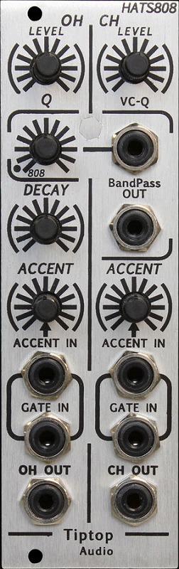 Tiptop Audio / HATS808 Hi-Hats ドラムジェネレーターモジュール【お取り寄せ商品】