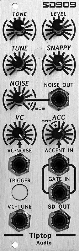 Tiptop Audio / SD909 Snare Drum ドラムジェネレーターモジュール【お取り寄せ商品】