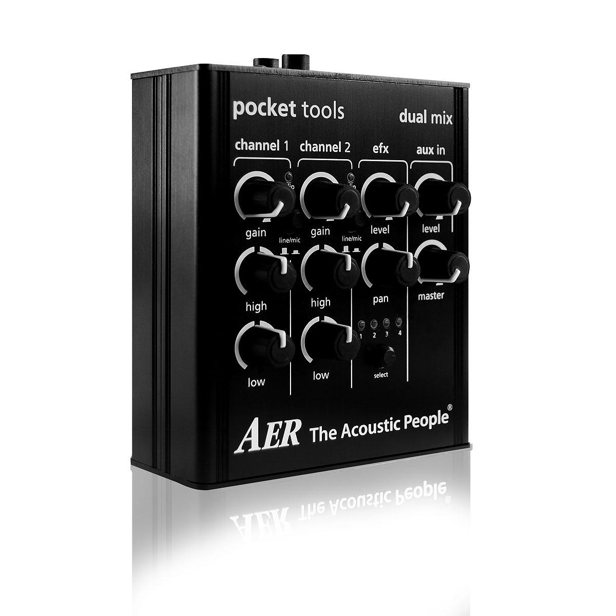 AER / DUALMIX2 エーイーアール アコースティックギター用 プリアンプ 【お取り寄せ商品】