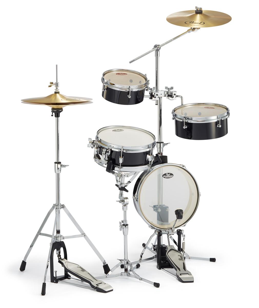 Pearl ドラムセット RT-5124N #31ジェットブラック パール リムトラベラー・ライト