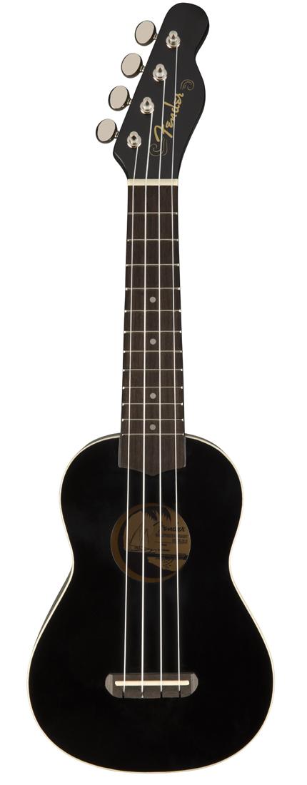 Fender / Venice Soprano Ukulele Black [California Coast Series] ウクレレ ソプラノ