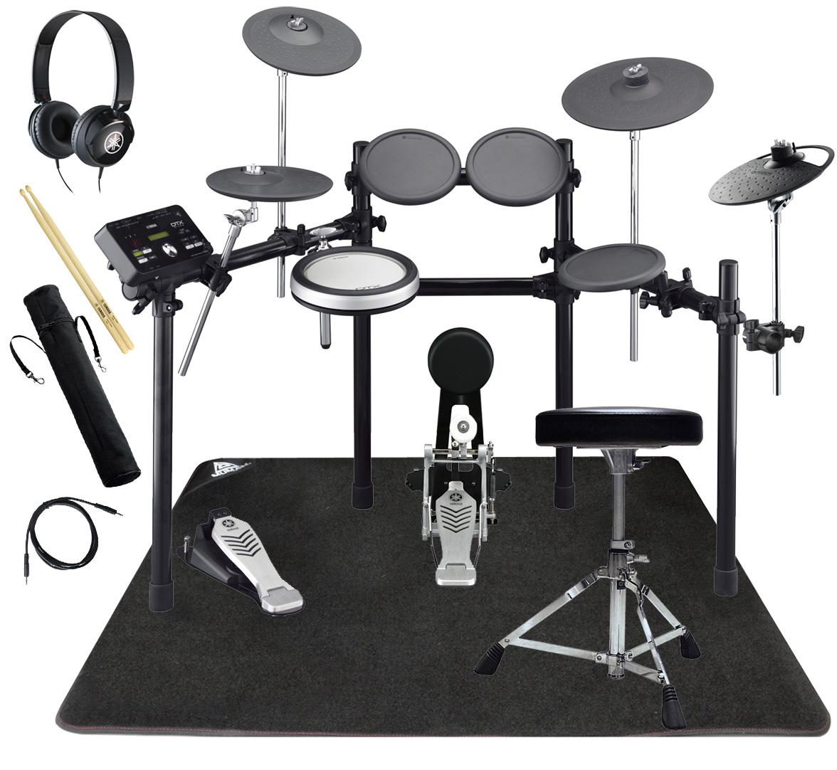YAMAHA 電子ドラム DTX522KFS 3シンバル ドラムマットと純正ヘッドホン・スティックセット【YRK】