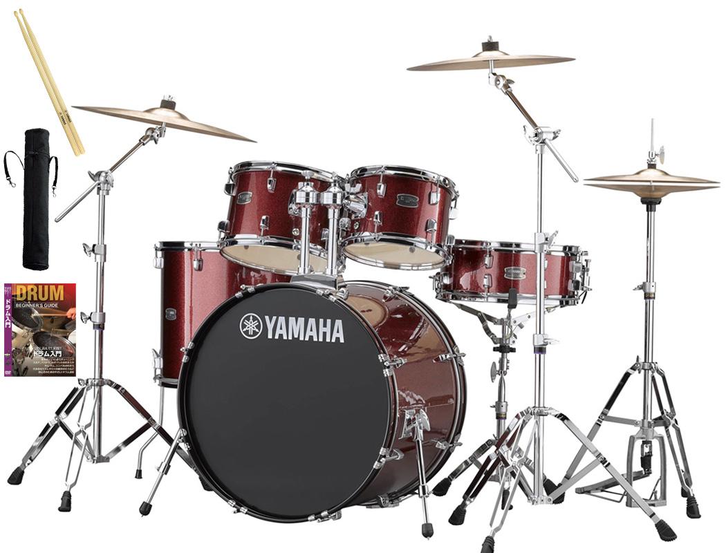 YAMAHA / RDP2F5STD BGGバーガンディーグリッター ヤマハ ライディーン 22BD ドラムセット シンバル付きフルセット【YRK】