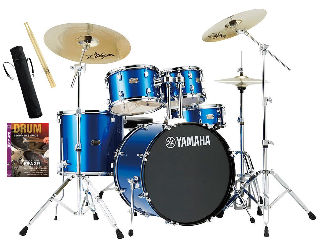 YAMAHA / RDP2F5STD FBファインブルー ヤマハ ライディーン 22BD ドラムセット シンバル付きフルセット【YRK】