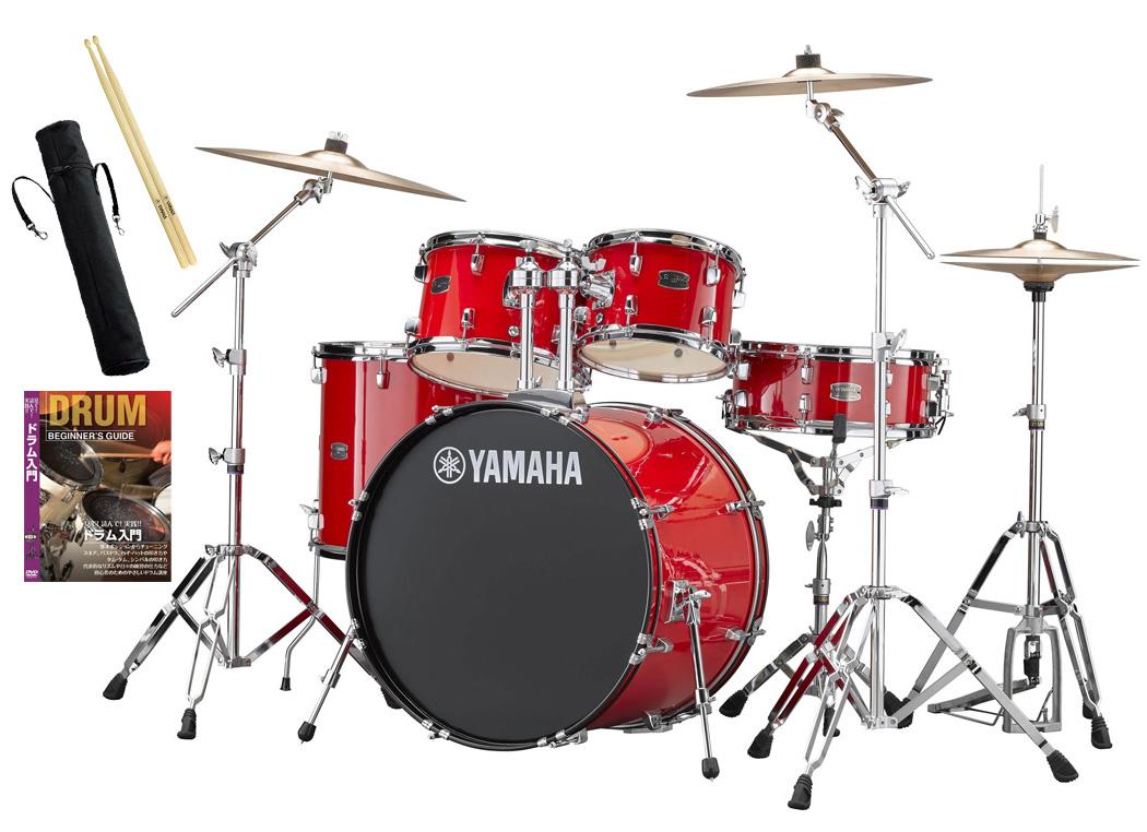 YAMAHA / RDP2F5STD RDホットレッド ヤマハ ライディーン 22BD ドラムセット シンバル付きフルセット【YRK】